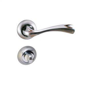 Mâner pe rozetă/cheie/yală/wc – Z 1491 E9 SN/PC (Aliaj Zinc)