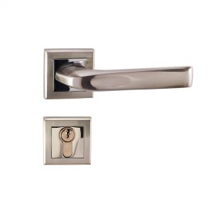 Mâner pe rozetă/cheie/yală/wc – A 1702 E8 SN/PC (Aliaj Aluminiu)