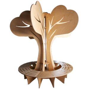 Loc de Așteptare din Placaj Ecologic (copac din lemn mesteacan)
